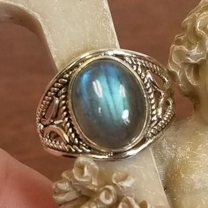 925 sterling silver Labradorite ring